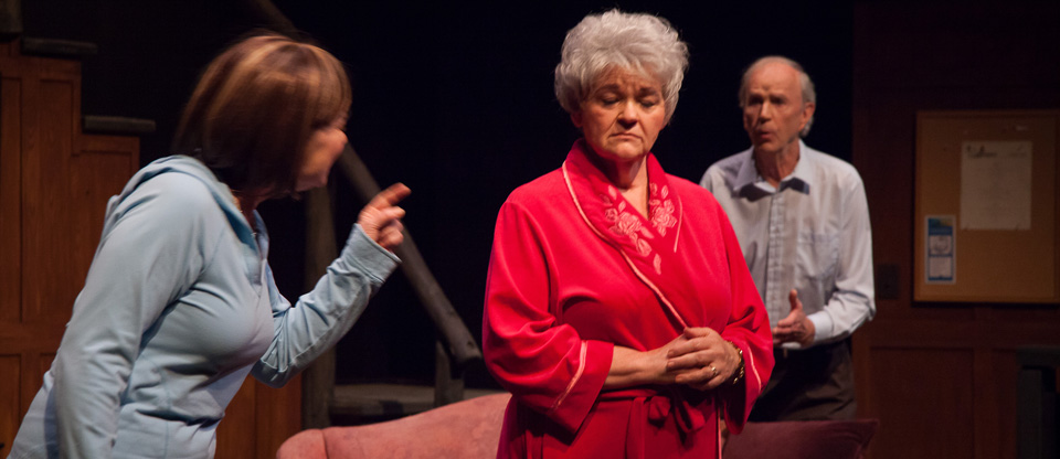 Sue Cook, Connie Taws, and Ron Payne in Goodbye, Piccadilly (Photo: Jacquie Black)