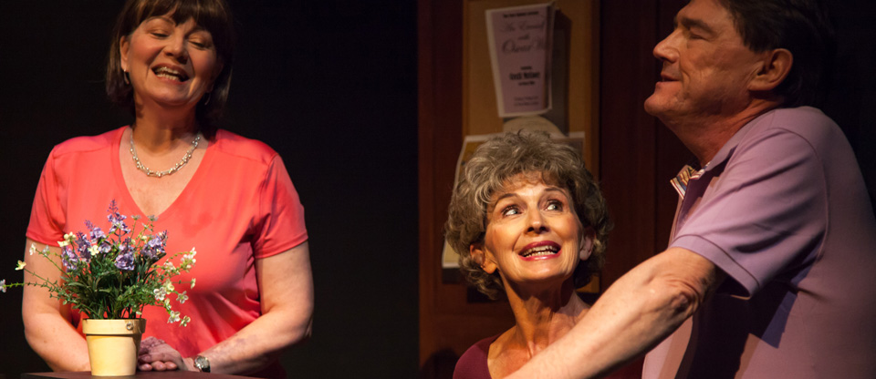 Sue Cook, Sheila Payne, and Tom Davidson in Goodbye, Piccadilly (Photo: Jacquie Black)